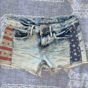 American flag denim / jean shorts